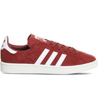 Adidas Campus Suede Trainers Burgundy Chalk White