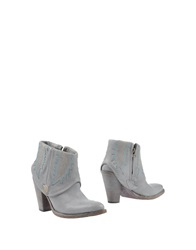Htc Ankle Boots Light Grey