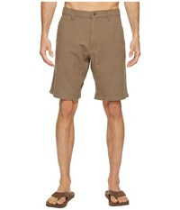 Mountain Khakis Boardwalk Plaid Short Firma Solid Men's Shorts Brown