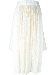 No21 Asymmetric Hem Lace Skirt Nude And Neutrals