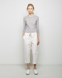 Chimala Cropped Drawstring Pant Off White