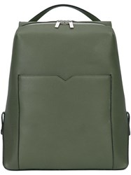 Valextra Leather Backpack Green