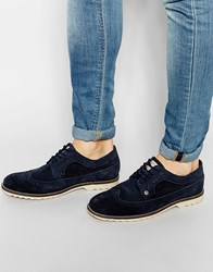 Original Penguin Winchester Brogues In Suede Blue