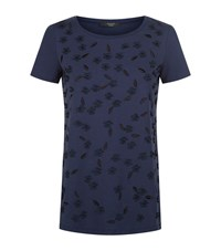 Max Mara Weekend Novak Applique Flower T Shirt Female Blue