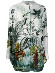 F.R.S For Restless Sleepers Silk Tropical Print Blouse 60