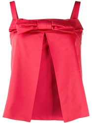 Christian Dior Vintage 1990'S Bow Detail Top Red