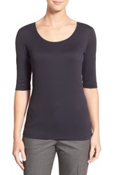 Boss Jersey Skin Touch Top Black