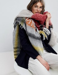 Paul Smith Ps By Checked Blanket Scarf Multi