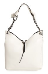 Jimmy Choo 'Small Raven' Nappa Leather Shoulder Bag White Chalk