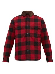 Rag And Bone Jack Padded Checked Cotton Flannel Shirt Red Multi
