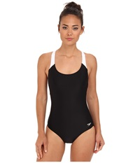 Speedo Contemporary Ultraback One Piece Black Women's Swimsuits One Piece