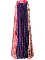 Daizy Shely Pleated Panel Maxi Skirt Polyester Modal