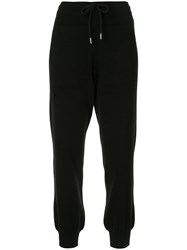 Barrie Drawstring Track Trousers Black