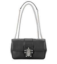 Dolce And Gabbana Lucia Leather Bag Black