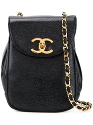 Chanel Vintage Flap Crossbody Bag Black