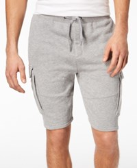 American Rag Men's Heathered Cargo Knit Shorts Created For Macy's Ar Pewter