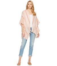 Collection Xiix Striped Side Ruffle Cover Up Coral Clothing