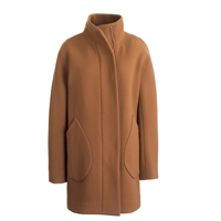 J.Crew Double Cloth Patch Pocket Cocoon Coat Dark Camel