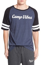 Poler Stuff 'Camp Vibes' Football Jersey Navy Heather Black White