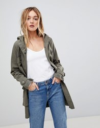 B.Young Embroidered Parka Cedar Green