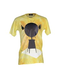 Andrea Crews Topwear T Shirts Men Yellow