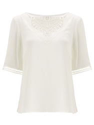Alice By Temperley Somerset By Alice Temperley Embroidered Silk Top Cream