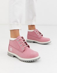 Timberland Nellie Chukka Ankle Boots In Pink