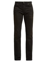 Balenciaga Distressed Slim Leg Jeans Black
