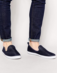 New Look Woven Slip On Plimsolls Navy