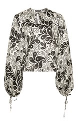 Holly Fulton Karen Paisley Top White