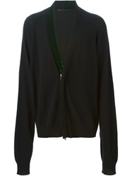 Haider Ackermann Velvet Detail Shawl Lapel Cardigan Black