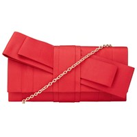 John Lewis Origami Bow Clutch Bag Coral