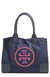 Tory Burch Ella Beaded Logo Nylon Mini Tote