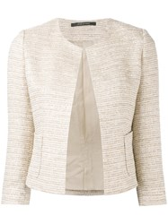 Tagliatore Fitted Tweed Jacket Women Cotton Acrylic Polyamide Other Fibers 40 Nude Neutrals