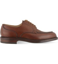 Crockett Jones Durham Split Toe Derby Shoes Tan