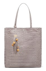 Elizabeth And James Eloise Croc Embossed Leather Magazine Tote