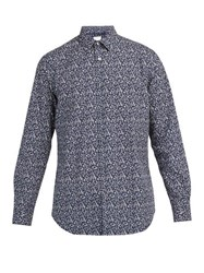 Paul Smith Floral Print Cotton Shirt Navy Multi