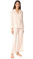 Eberjey X Rebecca Taylor Long Pj Set Cream Print Brumble Buds