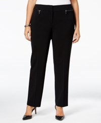 Nine West Plus Size Zip Pocket Trousers Black