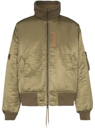 Ambush Reversible Padded Bomber Jacket Green