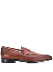 Kiton Woven Loafers Brown