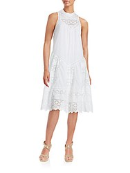 French Connection Lace Midi Dress Summer White