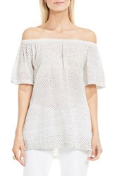 Vince Camuto Women's Two By Delicate Etchings Off The Shoulder Top