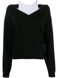 Alexander Wang T By Wash Go Bi Layer Sweater Black