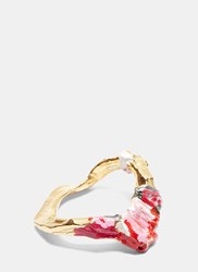 Acne Studios Aggy Painted Bangle Gold