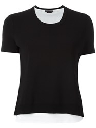Alice Olivia Knitted T Shirt Black