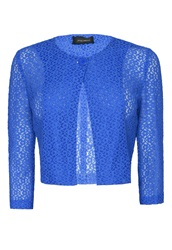 James Lakeland Lace Bolero With Button Blue