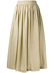 Etro Metallic Grey Full Midi Skirt