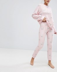 Wildfox Couture Horse Print Lounge Jogger Iced Lavender Multi