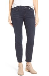 Eileen Fisher Women's Stretch Organic Cotton Frayed Ankle Jeans White Indiasky